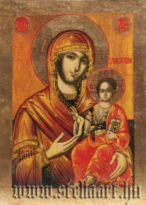 Hodigitria jellegű Mária ábrázolás